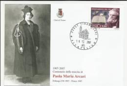 Cartolina  CITTA' DI TIRANO 1907 2007 PAOLA MARIA ARCARI FRIBURGO 1907 TIRANO 1967 - Sondrio