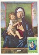 Carte-Maximum SAINT-VINCENT N°Yvert 292 / Bellini / La Vierge Et L´Enfant - St.Vincent (...-1979)
