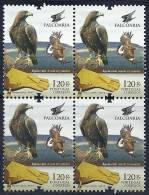 Portugal 2013 Falcoaria Fauconnerie Falconry Birds Of Prey Aquila Chrysaetos Aguia Real Block Of 4 - Eagles & Birds Of Prey