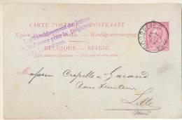 3pk805: L'Affranchissement Des Lettres De La France Pour La Belgique Est De 25 Centmies: / 10ct Carte Postale: GOSSELIES - Stamped Stationery