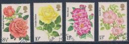 GB ~ 1976 ~  Roses ~ SG 1006-1009 ~ Used - 1952-.... (Elizabeth II)