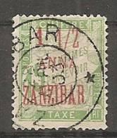 ZANZIBAR - Yv  Taxe N° 3  (o)    1 1/2  S 15c   Cote 14 Euros  D 2 Scans - Zanzibar (1894-1904)
