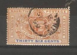 MAURITIUS - 1898 DIAMOND JUBILEE 36c USED - Maurice (...-1967)