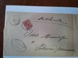 Piego Tra Sindaci Da Busseto A Polesine Parmense Affrancato Con 10 C. Effige Umberto I. Sassone 60 - 1878-00 Umberto I