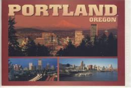 PORTLAND - Ca 1980 Multi View Skyline River Park Willamette River - Portland