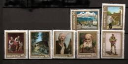 Albanie Shqiperia 1968 N° 1108 / 14 ** Tableaux, Berger, Tirana, Réfugiés, Maquisards, Skoder, Chevaux, Voiture, Rrota - Albanië