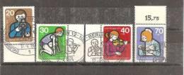 BlnMi.nr.468-71/ Jugendarbeit 1974  O Ersttagsstempel - Berlin (West)