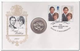England Special Coin Royal Wedding The Prince Of Wales En Princes Diana - Adel