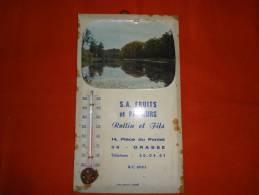 Thermomètre Publicitaire - Rollin Et Fils 14, Place Du Pontet à Grasse (06) - Placas De Cartón