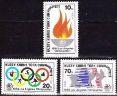 Cyprus / Turkey : 1984 Olympic Summergames Los Angelos MNH Set Michel 144 / 146 - Zomer 1984: Los Angeles
