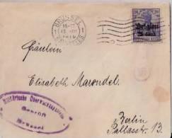 BELGIQUE -ALLEMAGNE:1916:Lettre De Bruxelles Pour Berlin.avec Censure Allemande.Timbre N°Occup.18. - WW I