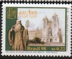136 BRASIL 1998- 400 Años Del Monasterio De San Bento- San Pablo - Brasilien