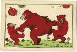 Chromo Farine Salvy  La Danse Des Ours  Illustrateur Ray Lambert  /c4492 - Unclassified