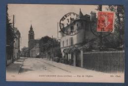 95 VAL D´OISE - CP SAINT GRATIEN - RUE DE L'EGLISE - ND. PHOT. N°209 - CIRCULEE EN 1916 - Saint Gratien