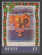 "Nevis 2004 Mi 2011 ** ""The Christmas Newsstand"" – By Norman Rockwell (1894-1978) Painter + Illustrator /  Ze - Kunst"
