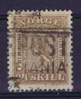 Norway: 1856 Mi Nr 10  Used