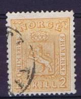 Norway: 1867 Mi Nr 12  Used