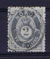 Norway: 1872 Mi Nr 17 B  Used Graublau