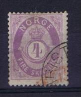 Norway: 1872 Mi Nr 19 E  Used - Gebruikt