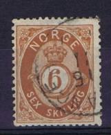 Norway: 1872 Mi Nr 20  Used - Gebruikt