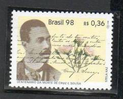 139 BRASIL 1998- 100 Añps De La Muerte De  J. Cruz E Sousa 1v - Unused Stamps