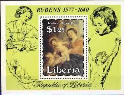 ##Liberia 1984. Rubens. Painting. Michel Block 107. MNH(**) - Liberia