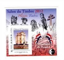 Bloc CNEP N° 61 : Salon Du Timbre 2012 , Planète Timbres . Voir Le Scan . Vente à Prix Fixe , Achat Immédiat . - CNEP