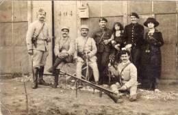 CHEZY EN AIXOIS - Carte Photo - Soldats Dont Chasseurs Alpins (55099) - France