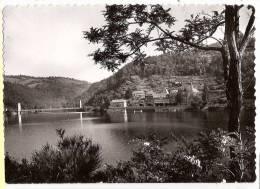CP Hospice De La Devèze Et Le Pont Suspendu  Sur Le Lac De Sarrans Sainte Marie De Rouergue 12 Aveyron - Villefranche De Rouergue