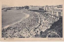 CPA-64-PYRENEES ATLANTIQUES - BIARRITZ - Vue Générale De La Plage - Biarritz