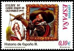España 2002 Edifil 3913 Sello ** Correspondencia Epistolar Escolar Felipe IV Y Conde Duque De Olivares Historia España - 1931-Hoy: 2ª República - ... Juan Carlos I