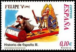 España 2002 Edifil 3917 Sello ** Correspondencia Epistolar Escolar Felipe V Historia España Diseño Gallego & Rey 0,10€ - 1931-Hoy: 2ª República - ... Juan Carlos I