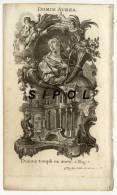 """Gravure  Signée Klauber :""""Domus Aurea """"- Issue D Un Livre De Piété???portant Le N° 38 En Haut à Dte - Vieux Papiers"""