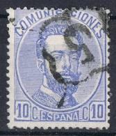 Sello 10 Cts Amadeo 1872, Araña 5 De GRANADA, VARIEDAD Num 121  º - Usados