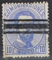 Sello 10 Cts Amadeo 1872, Barrado, Num 121s  º - 1872-73 Reino: Amadeo I