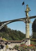 Fribourg Fontaine Du Banneret Et Pont Du Gotteron  A-1836 - FR Fribourg
