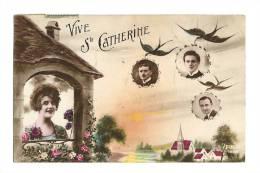 Cp, Prénom, Vive Ste-Catherine, Voyagée 1911 - Nomi