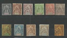 """Gabon YT 16 à 24 28 29 """" 11 Tp De La Période """" 1904-07 Neuf*/oblitérés"""