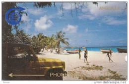 Anguilla, ANG-1B, EC$10, Meads Bay - 1CAGB,2 Scans. - Anguilla