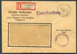 1948 Germany Einschreiben Munchen Frei Durch Ablosung Reichsbahn Brief - Gemeinschaftsausgaben