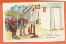 W162, Tu Es L'ami Des Artistes. Mais Tu Préfères Les Modèles Aux Tableaux, Non Circulée - Dreh- Und Zugkarten