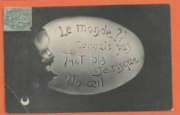 W166, Oeuf, Bébé, Circulée 1905, 1 Pli - Neonati