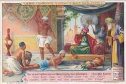 Liebig Vintage Trade Card S640 The Poor Fisherman &The Caliph 1001 Knights No 4 - Liebig