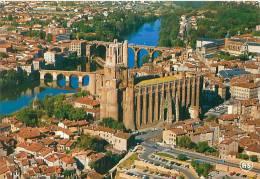 CPM - 81 - ALBI - Vue Aérienne Sur La Basilique Se Cécile, Les Vieux Quartiers Et Les Ponts Sur Le Tarn (Apa Poux) - Albi