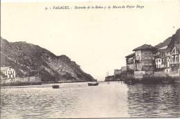 Cpa Pasajes, Entrada De La Bahia, Maison Musée Victor Hugo - Espagne