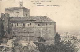 GRANADA  - ESPAGNE -  CPA DOS SIMPLE De La Torre De La Vela Y Catedral  -  Ccc - Granada