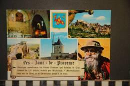 13 LES BAUX DE PROVENCE  EGLISE ST VINCENT VUE D'ENSEMBLE TOUR SARRAZINE DU CHATEAU LE MOULIN DE DAUDET  VIEUX BERGER - Les-Baux-de-Provence