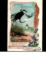 CHROMO Chocolat AIGUEBELLE  -  LE MONDE Des  OISEAUX  -  Ordre Des Passereaux - Phylicère , Alouette, Hirondellef - Aiguebelle