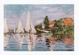 Maritime Art Postcard Regatta At Argenteuil Claude Monet 1872 Sailing Boat France - Voiliers