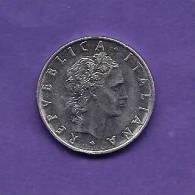 "ITALIA 1975,  Circulated Coin XF, 50 Lira, Stainless Steel ""R"" KM 95, C90.179 - 1946-… : Republic"